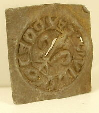 Cachet ou sceau ancien en plomb fleur de Lys héralidique XVIII ou avant blason