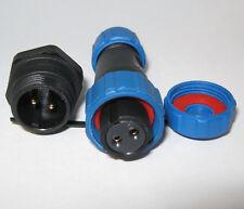 SP13 Panel Mount Reverse Gender IP68  Plug & Socket Circular Connector 2-9pin