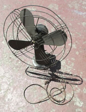 "Antique GE oscilating fan 16"" blade working Made in USA"