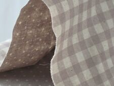Reversible Print Checker and Dot (GRAY) Fabric