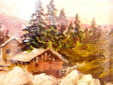"""""""Paesaggio di montagna"""" olio (particolare)"""