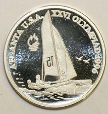 1996 Romania Large Silver Proof  100 Lei  Olympic Catamaran