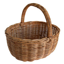 Best Quality Classic Traditional Oval Rattan Wicker Shopping Basket with Handle