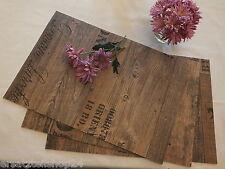 **exlusives Tischset Holzdekor Antik, abwaschbar rutschfest Platzset PVC #11