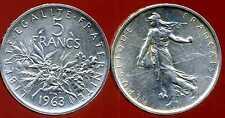 5 francs 1963 SEMEUSE  ARGENT   ( bis )
