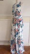 Zara Floral Halter Neck Maxi Dress New With Tags Wedding Summer Size M White