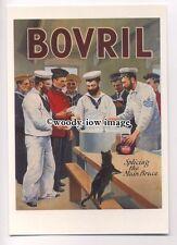 ad3631 - Bovril - Splicing The Main Brace - Modern Advert Postcard