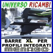 Barre Portatutto Menabo TIGER BLACK 135 AUDI A4 (B9) Avant 15> Profili Integrat