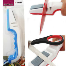 3 Stage Knife + Scissor Sharpener Chef Kitchen Blade Ston Sharp Knives Hand Tool