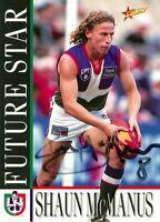 ✺Signed✺ 1996 FREMANTLE DOCKERS AFL Card SHAUN MCMANUS Future Star
