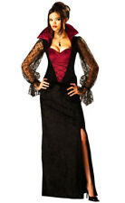 Women's  Midnight Vampire Costume Ladies Vampire Halloween Fancy Dress Costume