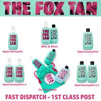 The Fox Tan - RAPID MIST - RAPID ELIXIR - MIST & ELIXIR -THE TRIPLE THREAT