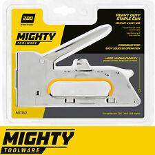 Heavy Duty Tacker Staple Gun with 200 Metal Staples Upholstery Stapler 8/10/12mm