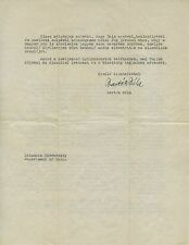 Bela BARTOK (Composer): 1942 Signed Letter about Hungary in WWII