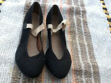 BLOCH Girls Black Canvas Cubic Heel Character Shoes*size 6L