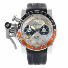 Graham Chronofighter GMT Oversize 2OVASGMT.S01A.K10B Steel Automatic Watch