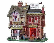 Lemax Spooky Town THE BUTCHER SHOP #85663 NRFB Halloween Lighted w/ Sound *