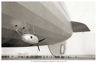 AIRCRAFT 1016 LZ-129 Hindenburg Making Ready for Flight 11 x 17 Photo Poster