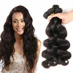 100% Brazilian Body Wave Remy Unprocessed Virgin Human Hair  Extensions Weave