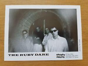 The Rubis 'Dare' 7x5 Noir et Blanc Press Promotionnel Photo Indie Punk Post Rock