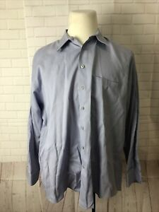 Perry Ellis Men's Big and Tall Purple Solid Dress Shirt 18 34/35 $98