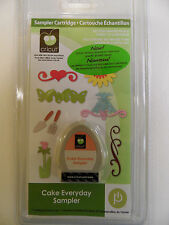 NEW!  Cricut Cake Everyday Sampler!!  RARE/ HTF!!  Use with all cricut machines!