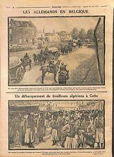 Deutsches Heer Belgique/Tirailleurs Algériens Port de Cette/Sète  WWI 1914