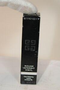 Givenchy Rouge Interdit Vinyl Color Enhancing Lipstick .11 oz FRANCE NEW