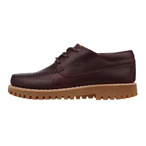 TIMBERLAND MEN'S JACKSON'S LANDING  MOC TOE OXFORD DARK RED FULL GRAIN A2HYM