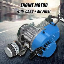 Blue 49cc 2 Stroke Engine Motor Air Filter CARB Pocket Bike Mini Dirt ATV   +