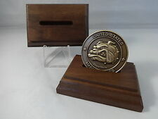 2 Wood Stands Challenge Coin holder display collectible military poker chip Gift