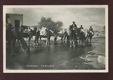 Ethnic Arab Camel Caravan 1934 RP PPC