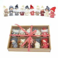 Cute Teddy Knitted Christmas Tree Hanging Decorations Handmade Xmas Gift Box Set