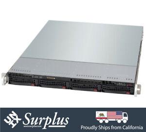 """1U 4 Bay 19"""" Short Depth Server X10DRL-i - 2x Xeon E5-2640 v3 32GB RAM RAIL 1xPS"""