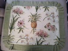 "VINTAGE WAVERLY 2 EURO PILLOW SHAMS  FLORAL 32"" x 26"""