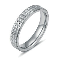 316L Stainless Steel Men/Women Fashion Rings Bridal Wedding Jewelry Size 6-11