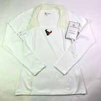 Houston Texans NFL All Sport Couture White Wildcat Tee Womens Medium NWT Defects