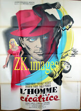 HOMME A LA CICATRICE Scarface Anglais Crime Spiv 1949