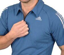 Adidas Climacool 365 Herren Polo Shirt Hemd Sport T-Shirt Laufshirt blau/silber