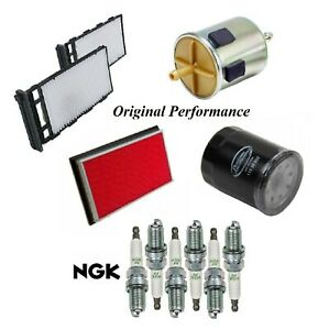 Tune Up Kit Air Cabin Oil Fuel Filters Spark Plugs For INFINITI QX4 V6 3.5L 2001