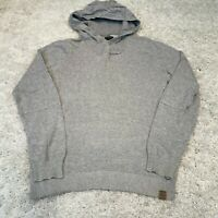 TOP SECRET Mens Knitted Jumper Large Grey Cotton Hoodie Pullover