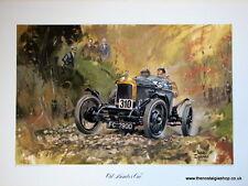 """MG """"Old Number One"""". Vintage Car Print. MG Print."""