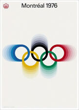 MONTREAL 1976 SUMMER OLYMPIC GAMES Official IOC Event POSTER Reproduction