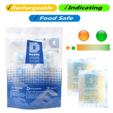 "20 gram X 100 PK ""Dry & Dry"" Food Grade Orange Indicating Silica Gel Packets"