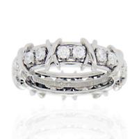 Au Tiffany & Co. Schlumberger Studios 18 Diamonds Platinum Ring Size 10 $$10400