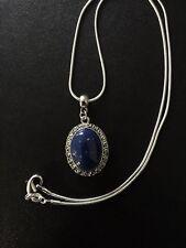 Necklace Silver Faux Lapis Lazuli  Bohemian Ethnic Boho N1097