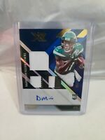 2020 Panini XR Denzel Mims Rookie RPA Jersey Patch Autograph RC Auto # /49