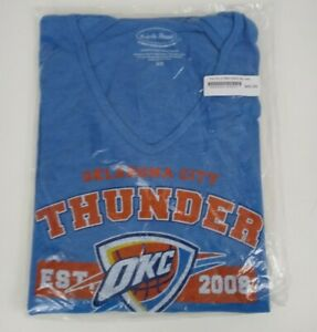 NWT Majestic Threads NBS Oklahoma City OKC Thunder Hooded Long Sleeve Shirt 2XL