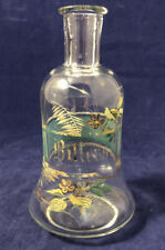 Antique Bitters Bottle, Glass Hand Painted
