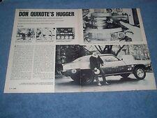 """1969 Camaro Vintage Drag Car Article """"Don Quixote's Hugger"""" Joe Frankel A/MP"""